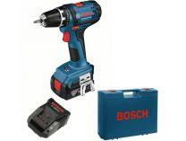 Bosch GSR 14,4-2-LI Plus Professional, 2x aku 14.4V/2Ah, kufr, aku vrtačka bez příklepu