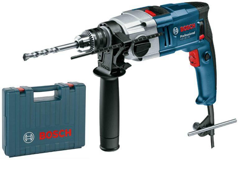 Dvourychlostní příklepová vrtačka Bosch GSB 18-2 RE Professional v kufru (0 601 1A2 190)