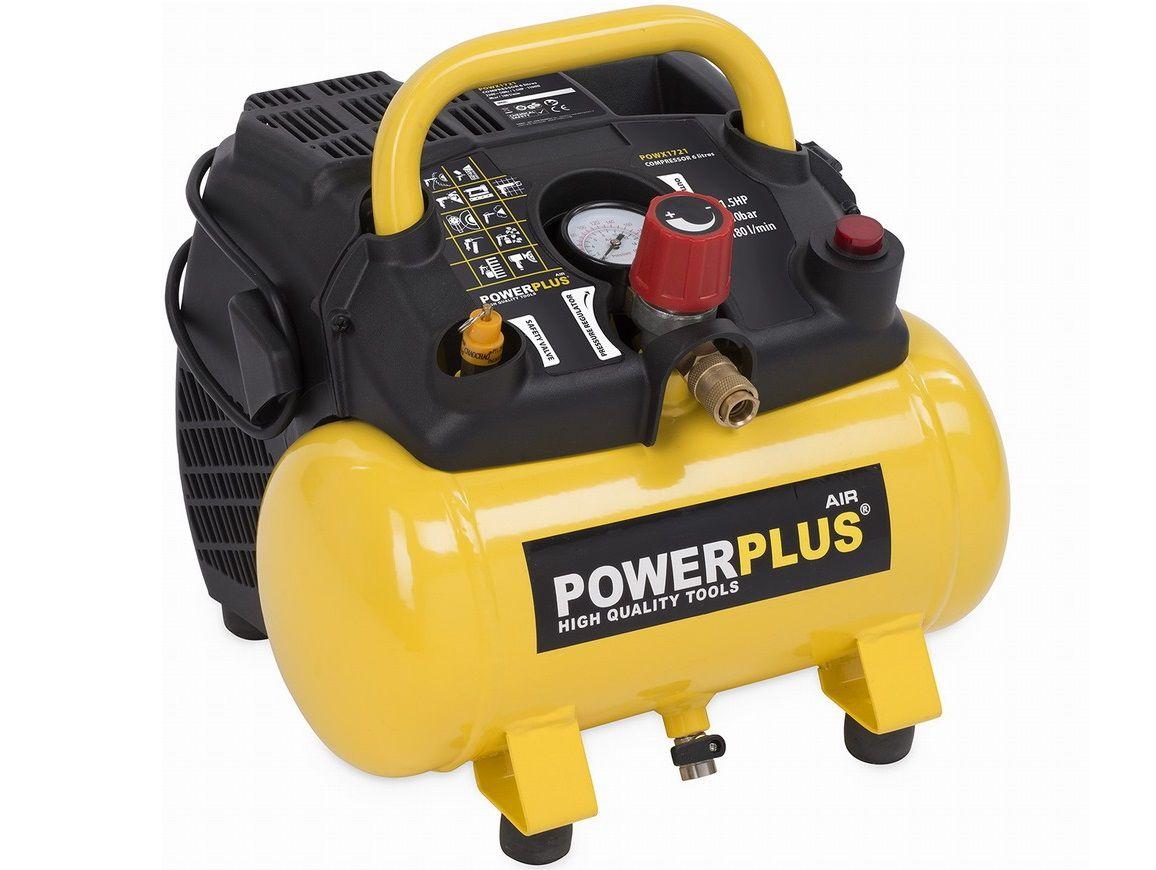 POWER PLUS, POWX1721 kompresor bezolejový