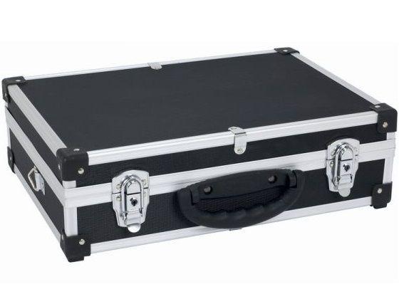 Hliníkový kufr se zámky Varo PRM10101B - 425x305x125mm, černý