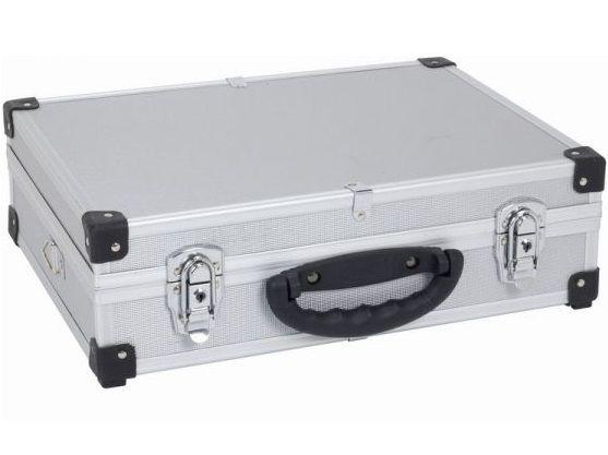 Hliníkový kufr se zámky Varo PRM10101S - 425x305x125mm, stříbrný