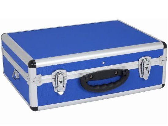 Hliníkový kufr se zámky Varo PRM10102BL - 460x330x160mm, modrý