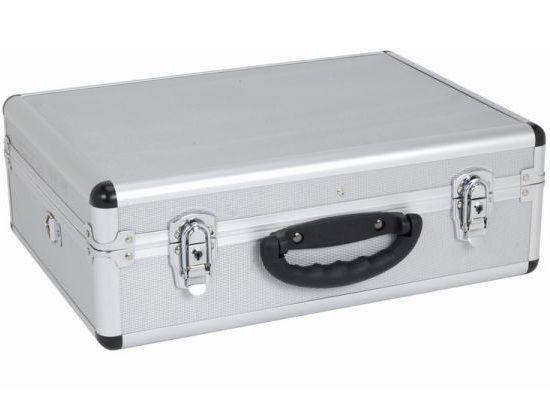 Hliníkový kufr se zámky Varo PRM10102S - 460x330x160mm, stříbrný