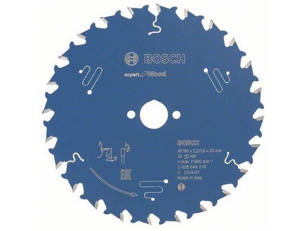 Pilový kotouč na dřevo Bosch Expert for Wood 160x20x2.2mm, 24 zubů Bosch příslušenství