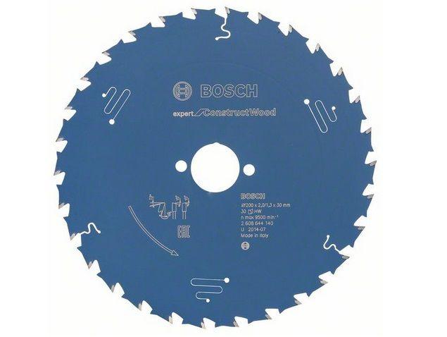 Pilový kotouč na dřevo Bosch Expert for Construct Wood 200x30x2.0mm, 30 zubů Bosch příslušenství