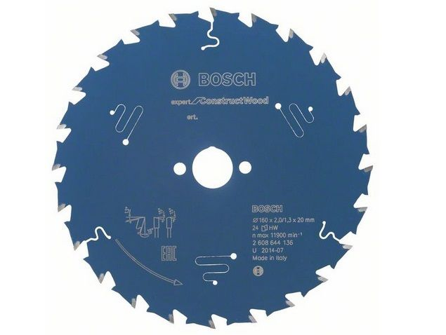 Pilový kotouč na dřevo Bosch Expert for Construct Wood 160x20x2.0mm, 24 zubů Bosch příslušenství