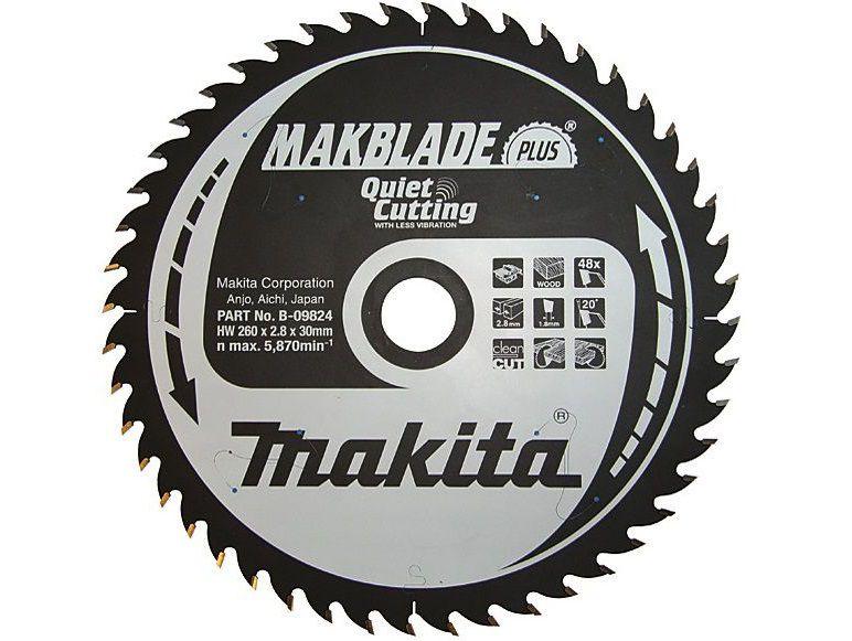 Pilový kotouč na dřevo Makita B-08741 MAKBLADE PLUS, 355x30mm, 80 zubů, do pokosové a stolní pily
