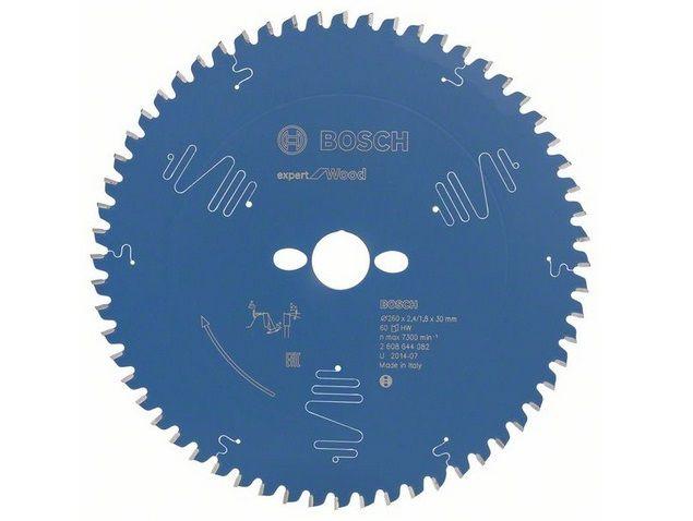 Pilový kotouč na dřevo pro pokosové pily Bosch Expert for Wood 260x30x2.4mm, 60 zubů
