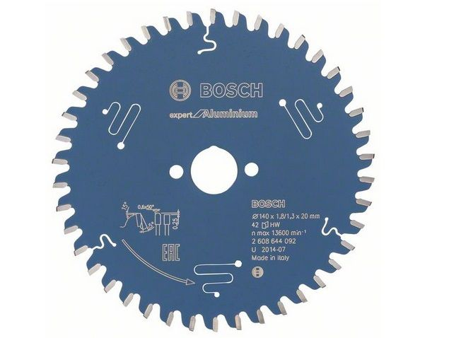 Pilový kotouč na hliník Bosch Expert for Aluminium 140x20x1.8mm, 42 zubů