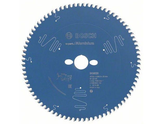 Pilový kotouč na hliník pro pokosové pily Bosch Expert for Aluminium 254x30x2.8mm, 80 zubů