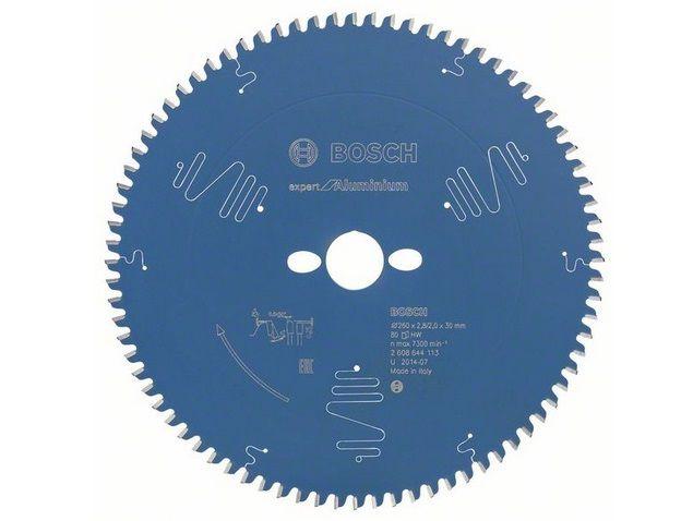 Pilový kotouč na hliník pro pokosové pily Bosch Expert for Aluminium 260x30x2.8mm, 80 zubů