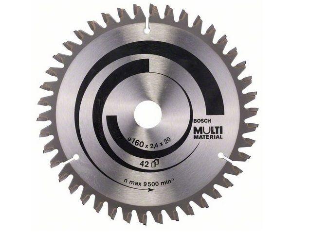 Pilový kotouč na různé materiály Bosch Multi Material 160x20x2.4mm, 42 zubů (na hliník, dřevo, lamino, plasty) 2608640503 Bosch příslušenství