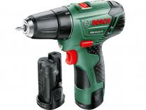 Zobrazit detail - Bosch PSR 10,8 LI-2 - 2x 10.8V/2.0Ah, 22Nm, 0.95kg, kufr, aku vrtačka bez příklepu