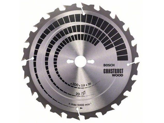 Pilový kotouč na dřevo pro stolní pily Bosch Construct Wood 300x30x2.8mm, 20 zubů Bosch příslušenství
