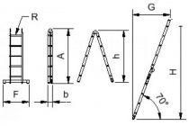 Štafle Alve FORTE 4206 dvojdílný kloubový žebřík 180 x 35 cm / 2 x 6 příček