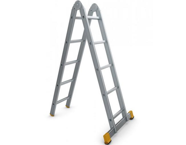 Štafle Alve FORTE 4207 dvojdílný kloubový žebřík 208 x 35 cm / 2 x 7 příček