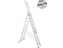 Štafle Alve FORTE 8610 trojdílný univerzální žebřík 298x48,4cm/3x10příček