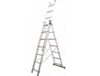 Štafle Alve EUROSTYLE 7808 trojdílný univerzální žebřík s úpravou na schody 230 x 45,4 cm / 3 x 8 příček