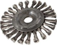 Okružní ocelový kartáč copánkový 178mm, S 0.50, otvor 22,2mm