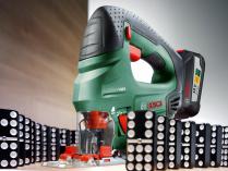 Aku přímočará pila Bosch PST 18 LI - 1x aku 18V/2.5Ah, 80mm, 1.6kg v kufru (0603011023) Bosch HOBBY