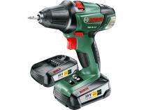 Zobrazit detail - Bosch PSR 18 LI-2 - 2x 18V/2.5Ah, 46Nm, 1.3kg, kufr, aku vrtačka bez příklepu