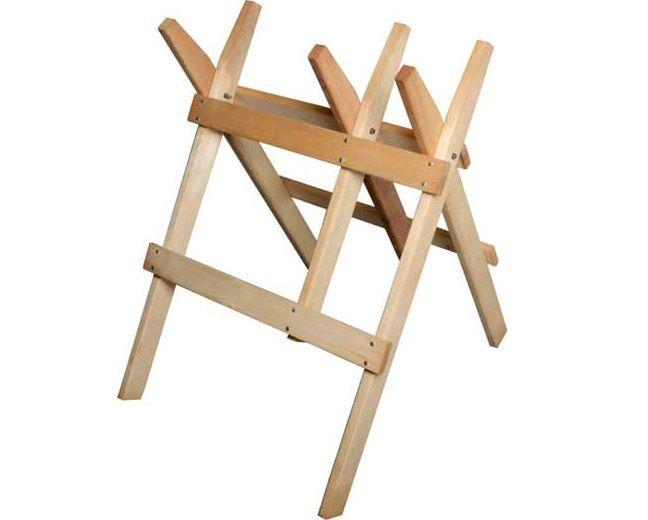 Dřevěná koza na řezání dřeva 77x85x88cm Magg