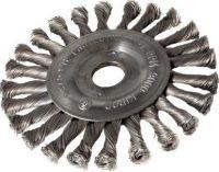 Okružní ocelový kartáč copánkový 150mm, S 0.50, otvor 22,2mm