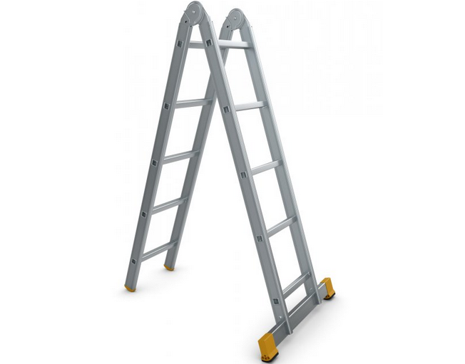 Štafle Alve FORTE 4205 dvojdílný kloubový žebřík 151 x 35 cm / 2 x 5 příček