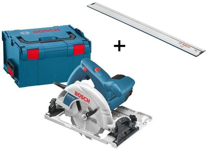 Bosch GKS 55 GCE Professional Ruční kotoučová pila + vodící lišta FSN 1600 + L-Boxx