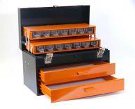 Celokovový kufr na nářadí Mars - 2 zásuvky, 450x275x295mm