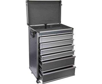 Hliníkový kufr pojízdný 496x315x667 mm, AL design Magg