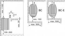 Harvia Vega Compact BC45 saunová kamna do sauny 4,5kW s vestavěným ovládáním (HCB450400S)