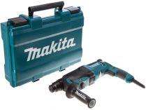 Kombinované pneumatické kladivo s výměnným sklíčidlem Makita HR2630T - 800W, 2.4J, 3kg v kufru