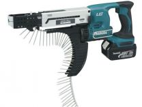 Makita DFR750RFE - 2x 18V/3,0Ah Li-ion, 4 x 45-75mm, 2,1kg, kufr, aku šroubovák se zásobníkem