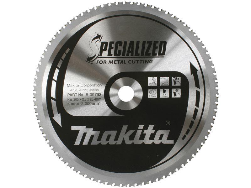 Pilový kotouč na kov Makita B-09793 Specialized, 305x25.4mm, 78 zubů