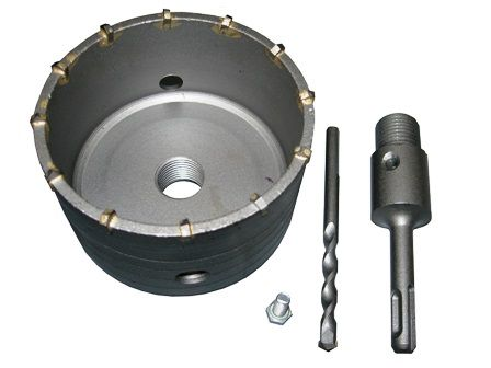 Příklepová vrtací korunka do zdi 100mm se stopkou Magg SDS-Plus, se závitem 20mm (27100100)