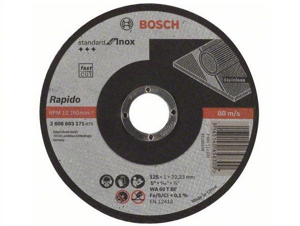 Řezný kotouč Bosch Rapido Standard for inox 125mm/1,0 na železo, kov a nerez Bosch příslušenství
