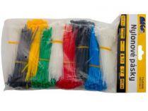 Stahovací pásky Magg - 2,5x100mm, barevné, 900ks