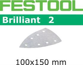 Brusný papír pro deltabrusky Festool DTS 400, DS 400 - Brilliant 2 Festool STF DELTA/7 P120 BR2/100 - zrnitost P120, 100ks (492797)