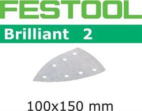 Brusný papír pro deltabrusky Festool DTS 400, DS 400 - Brilliant 2 Festool STF DELTA/7 P40 BR2/50 - zrnitost P40, 50ks (492793)