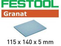 Brusná houba Festool 115x140x5 EF 500 GR/20 - zrnitost 500 na laky, barvy, tmely, dřevo, 20ks