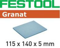 Brusná houba Festool 115x140x5 MF 1500 GR/20 - zrnitost 1.500 na laky, barvy, tmely, dřevo, 20ks