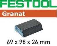 Brusná houba Festool 69x98x26mm, 6ks, hr.120, CO GR na laky, barvy, tmely, plniče, dřevo (201084)