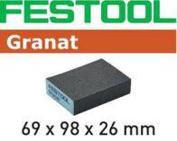 Brusná houba Festool 69x98x26 - 120 GR/6 na staré a nové laky, laky VOC, barvy, tmely, plniče, dřevo
