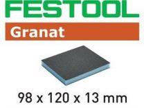 Brusná houba Festool 98x120x13 120 GR/6 - zrnitost 120 na laky, barvy, tmely, dřevo, 6ks
