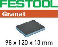 Brusná houba Festool 98x120x13 220 GR/6 - zrnitost 220 na laky, barvy, tmely, dřevo, 6ks