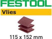 Rouno Vlies pro ruční leštění Festool 115x152 MD 100 VL/25 na barvy, laky, dřevo, kovy - 25ks