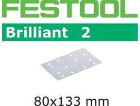 Brusné papíry pro brusky Festool RTS 400, RS 400, RS 4, LS 130, HSK-A 80 x 130, HSK 80 x 133 - Brilliant 2 Festool STF 80x133 P100 BR2/100 - zrnitost P100, 100ks (492851)