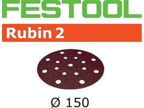 Brusné kotouče StickFix pro brusky Festool RO 150, ES 150, ETS 150, LEX 150, WTS 150, HSK-D 150 W; MULTI-JETSTREAM - Rubin 2 Festool STF D150/16 P80 RU2/10 - 150mm, zrnitost P80, 10ks (499111)