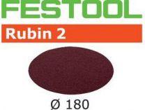 Brusné kotouče StickFix Rubin 2 Festool STF D180/0 P60 RU2/50 - 180mm, zrnitost P60, 50ks